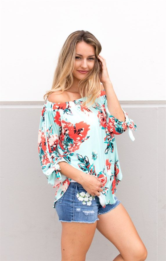 45d3c106520 Watercolor Floral Off The Shoulder Top in 2019 | Floral Frenzy ...