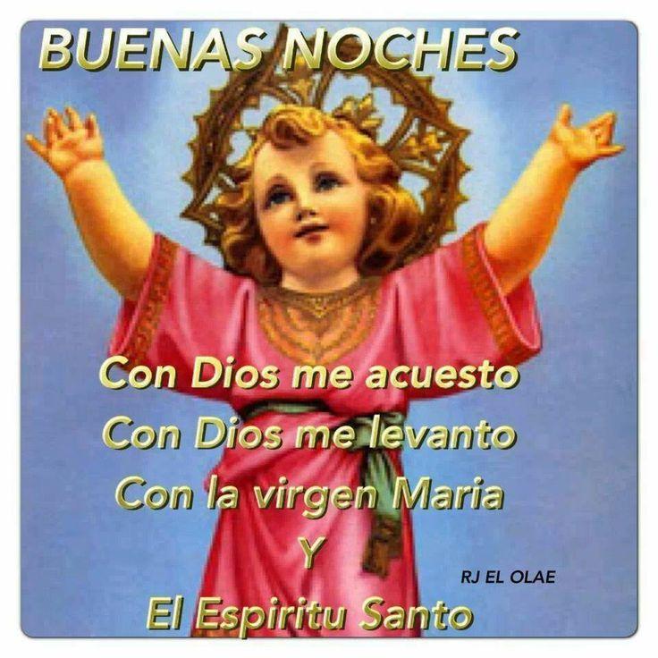 Divino niño. Con Dios me acuesto, con Dios me levanto con la Santísima Virgen y el Espíritu Santo.