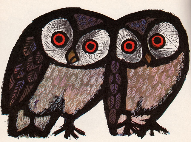 The Happy Owls by my vintage book collection (in blog form), via Flickr