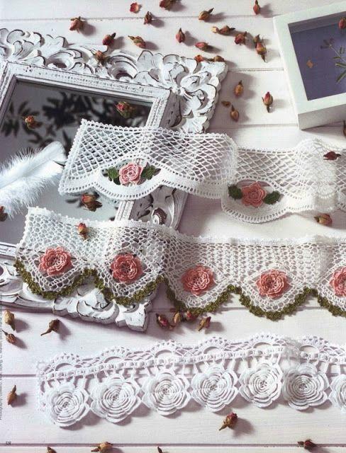 Ivelise Feito à Mão: Lindos Barrados Em Crochê