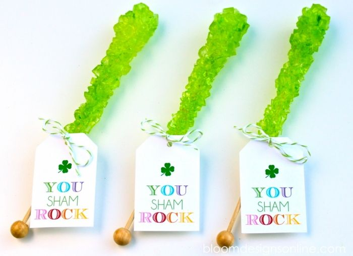 You ShamRock! St. Patrick's Day Idea and free printable by Bloom Designs Online simple easy gift for your leprechauns