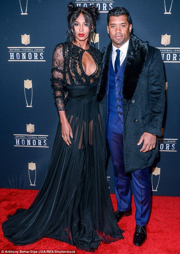 The 7th Annual NFL Honors Awards -  Ciara and her husband, Russell Wilson, who is the quarterback for the Seattle Seahawks, attended the awards ceremony.