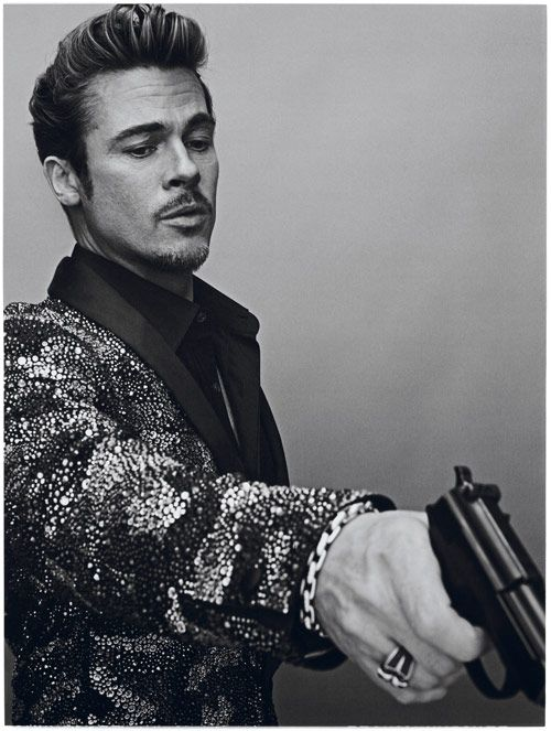 Brad Pitt portraits in Interview Magazine, by Steven Klein.