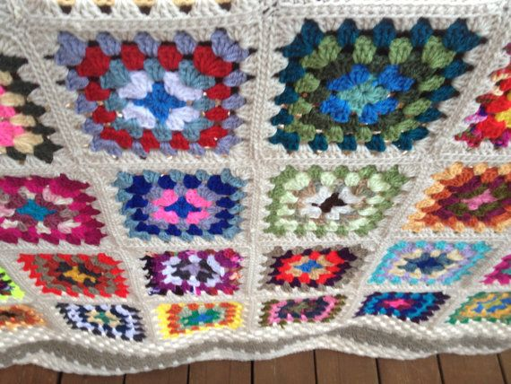 10% discount on ENTIRE STORE with coupon code Christmas10... Crochet Traditional Granny Square Afghan by porchswingafghans, $175.00
