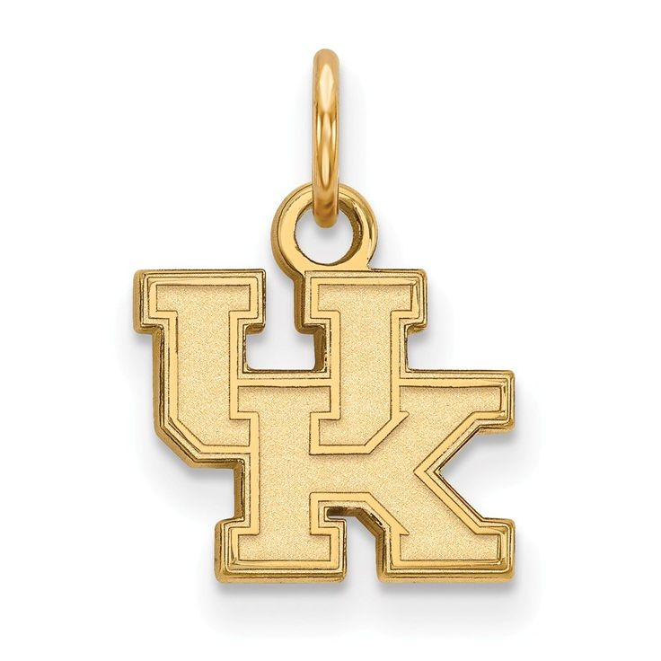 10k Yellow Gold LogoArt Official Licensed Collegiate University of Kentucky (UK) XS Pendant. Licensed and Official. 10k Yellow Gold, Solid, Stamped,. Collegiate- University of Kentucky. Licensed By:NCAA. Certificate of Authenticity Card Included.