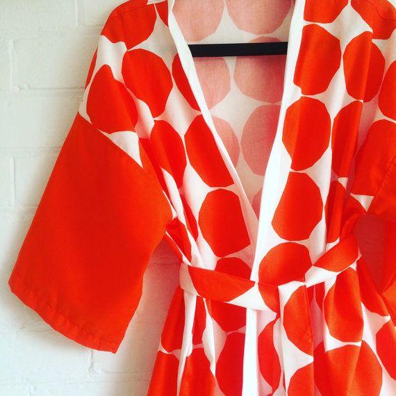 Marimekko Kivet fabric Kimono Robe by karlacola on Etsy