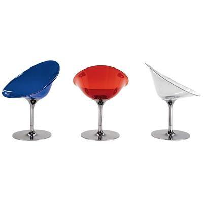 Cadeira EROS giratoria - <u>Descrição do produto:</u><br>A Ero/S/, de Philippe Starck para a Kartell, é uma cadeira de braços envolvente, na forma orgânica de ovo, caracterizada por uma refinada combinação de acabamentos e por uma sábia utilização da cor. O valor e a riqueza dos materiais utilizados, tanto no corpo como na base, tornam-na particularmente elegante e sofisticada. A Ero/S/ é ideal para a casa, numa sala de jantar ou de estar, mas também pode ser utilizada n