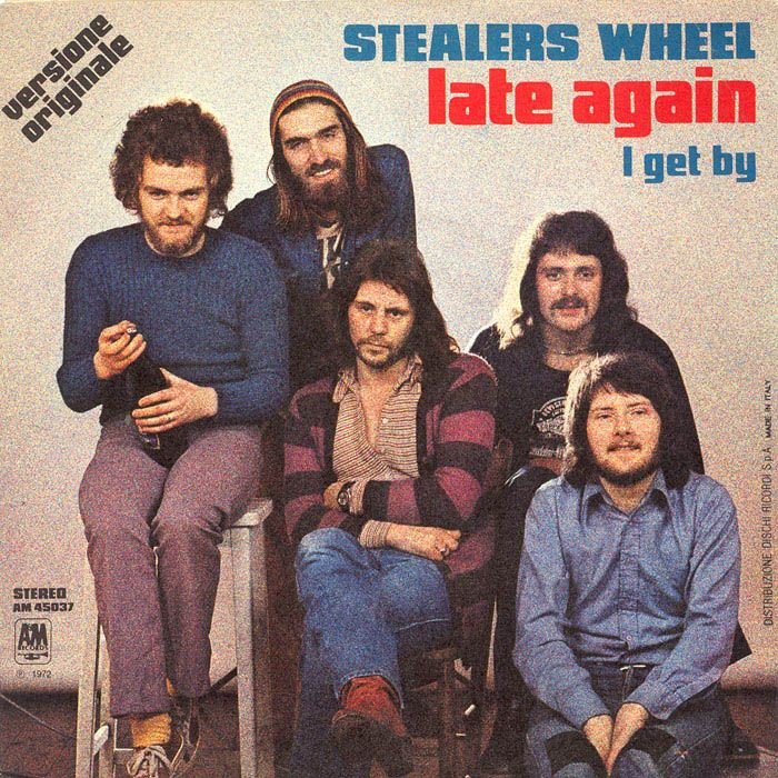 an analysis of stuck in the middle with you by joe egan and gerry rafferty Stealers wheel – stealers wheel label: a&m records – amls  gerry rafferty, joe egan: a2:  though vinyl label states 'stuck in the middle with you'.