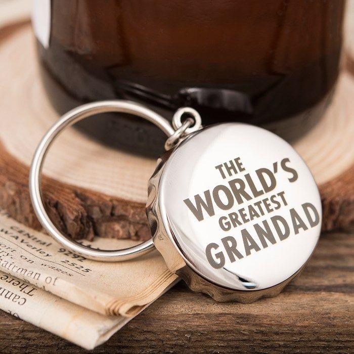 Personalised Bottle Top Keyring With Bottle Opener - World's Greatest | GettingPersonal.co.uk
