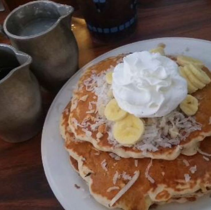 The Ono Family Restaurant in Kapaa, Kauai has the best Tropical pancakes with Coconut syrup!!