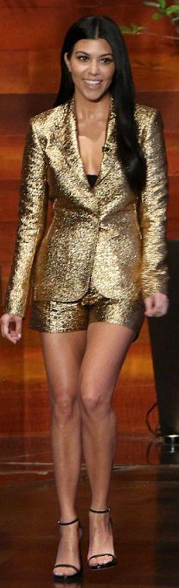 Kourtney Kardashian: Jacket and shorts …