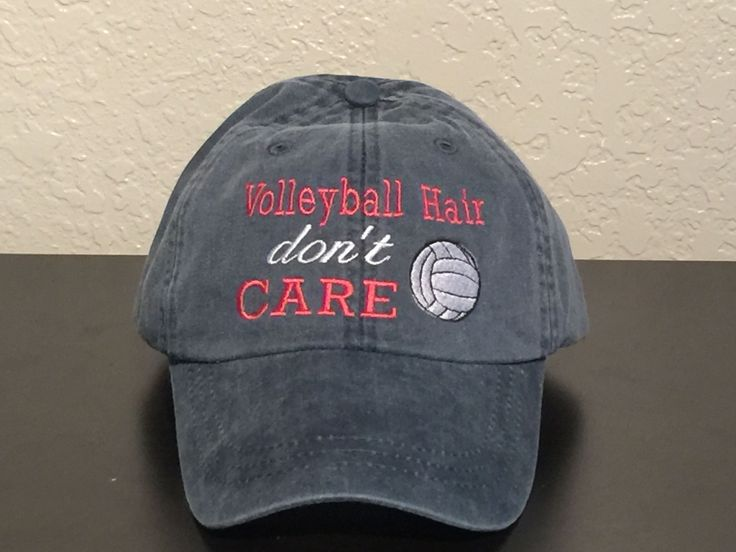 Volleyball Hair Don't Care Embroidered Baseball Cap