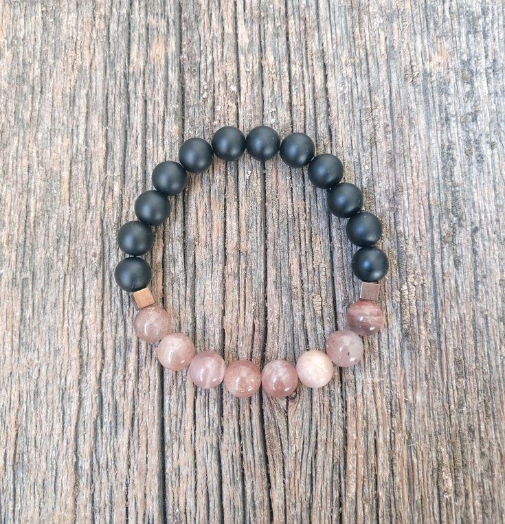 Protection bracelet ✨ black onyx ✨ sunstone
