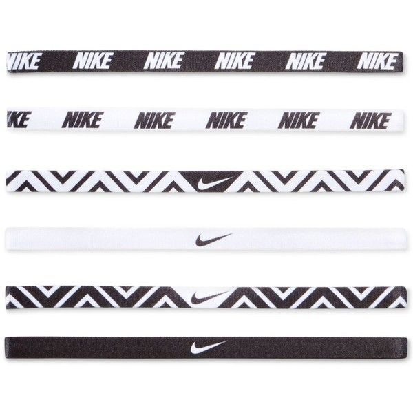 Nike Active Mini Headband Set ($13) ❤ liked on Polyvore featuring accessories, hair accessories, fillers, hair, nike, head wrap headband, elastic headbands, nike headband, nike hairband and headband hair accessories