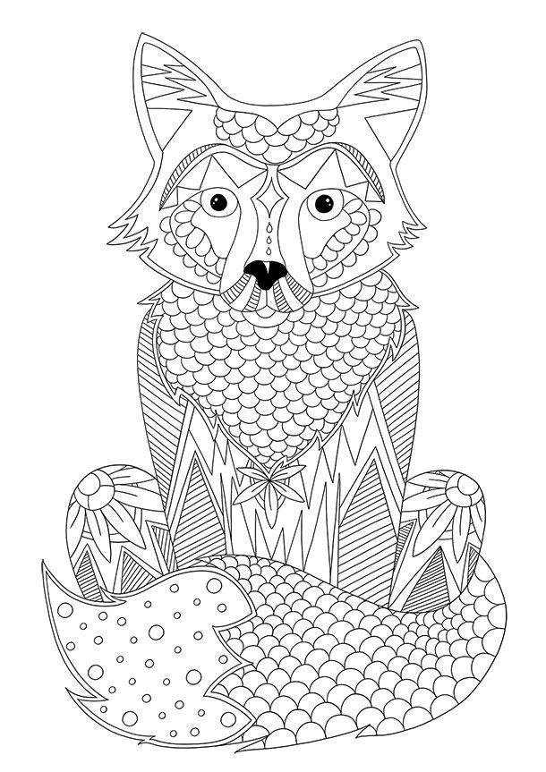 Les 28 meilleures images du tableau coloriage sur - Coloriage renard ...