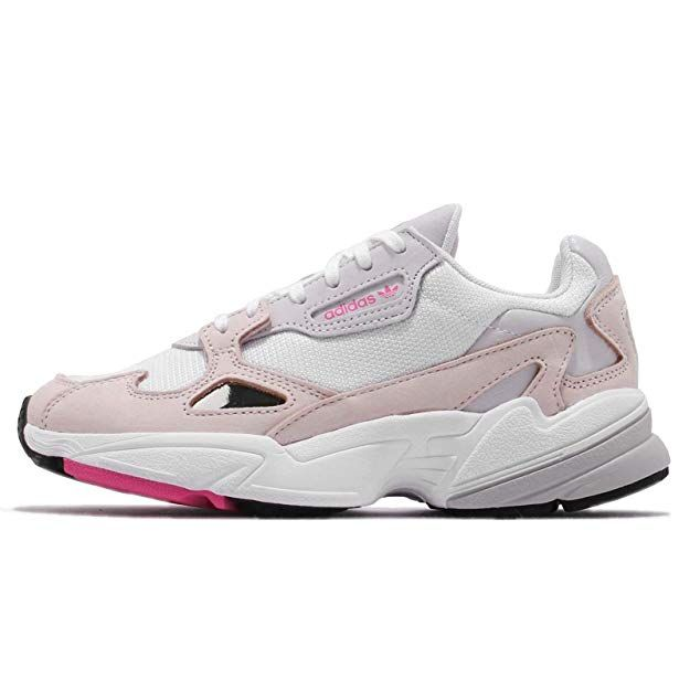 adidas Women's Falcon W, Footwear White/ICE Pink/Grey ONE, 7 ...