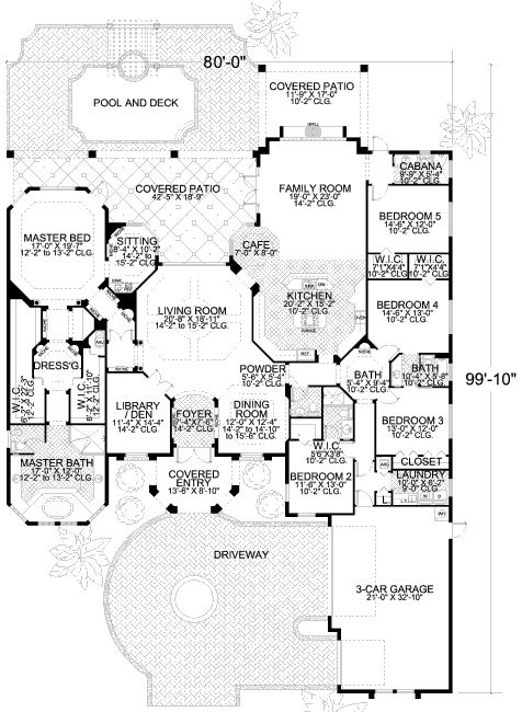 Plan 32015AA: Split Bedroom Masterpiece. Large Kitchen ...