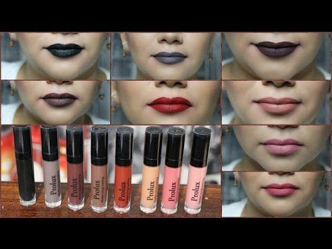Prolux Prueba de Labiales Mate / Colores RAROS para Otoño - YouTube