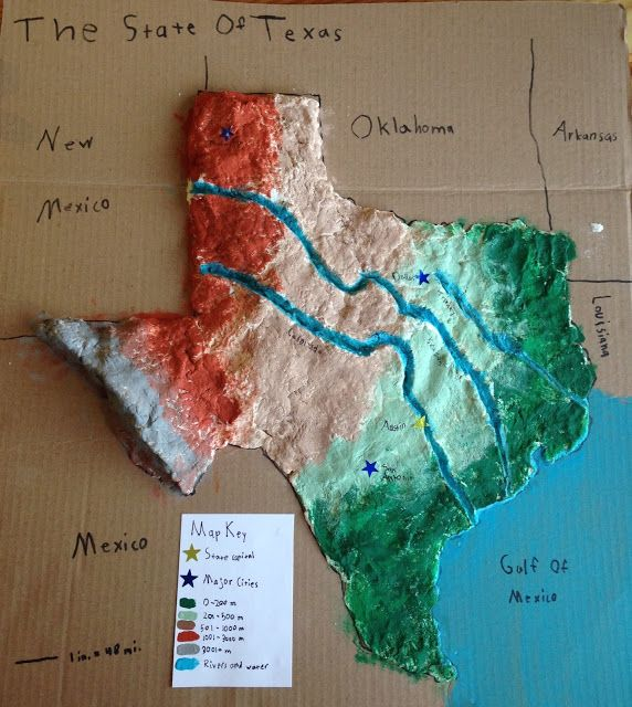 Salt dough map of a state or country I did this as a child in Japan