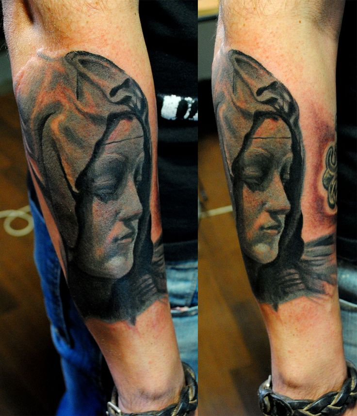 virgen tattoo by NIKO ORTEGA