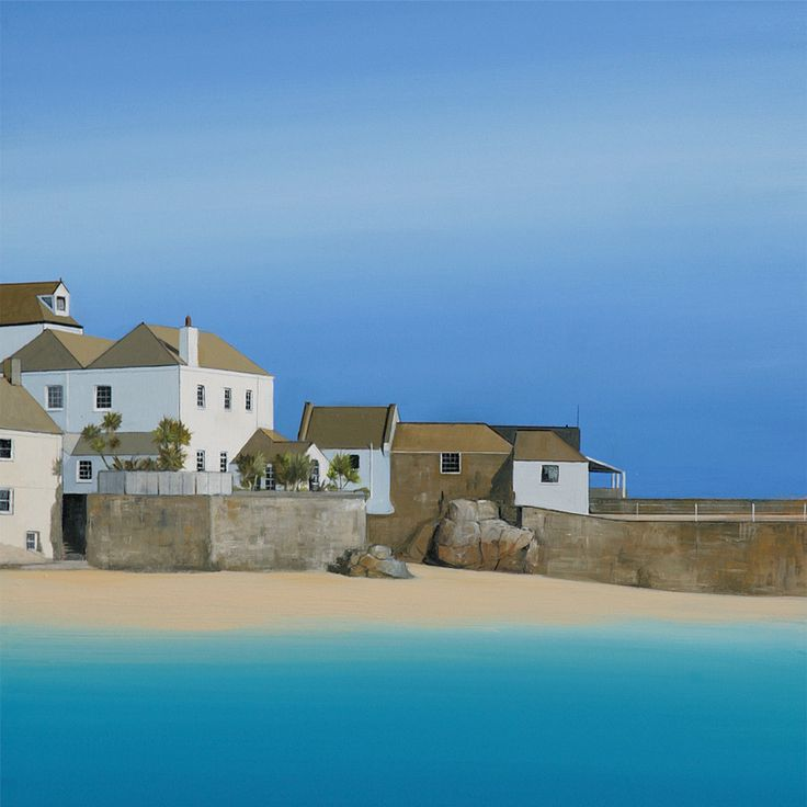 This is a view we get to see everyday! St Ives Harbour as painted by Cornwall native, Andy Pearce. Buy this print and many more by Andy Pearce at http://thewhistlefish.com/?artistcollection=Prints,Andy%20Pearce #stives #cornwall