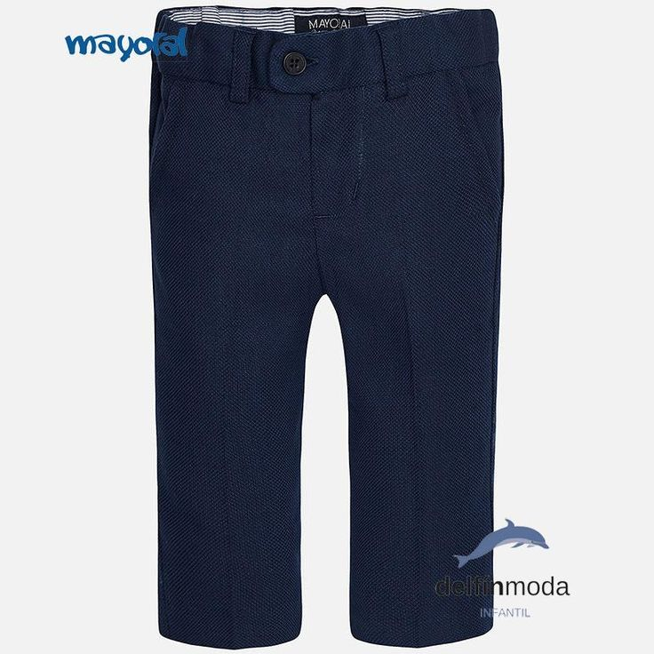 Pantalón chino largo de niño bebe MAYORAL  marino regular fit