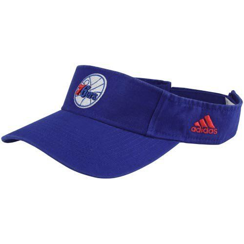 adidas Philadelphia 76ers Basic Logo Adjustable Visor - Royal Blue by adidas. $14.95. Adjustable hook and loop fastener strap. Imported. Team colors and logo. Officially licensed NBA product. Quality embroidery. adidas Philadelphia 76ers Basic Logo Adjustable Visor - Royal BlueTeam colors and logoImported100% CottonOfficially licensed NBA productAdjustable hook and loop fastener strapQuality embroidery100% CottonQuality embroideryAdjustable hook and loop fastener strap...