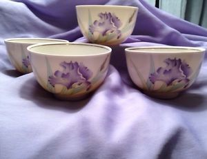 Vintage-Otagiri-White-amp-Purple-IRIS-BOUQUET-4-Japan-SAKE-Tea-Cups