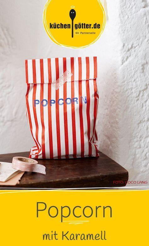 Unser selbst gemachtes Popcorn schmeckt wie im Kino, nur viiieel besser, denn es ist mit Karamell überzogen.