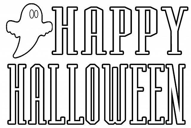 Felice Halloween Scritta Da Stampare E Da Colorare Pagine Da