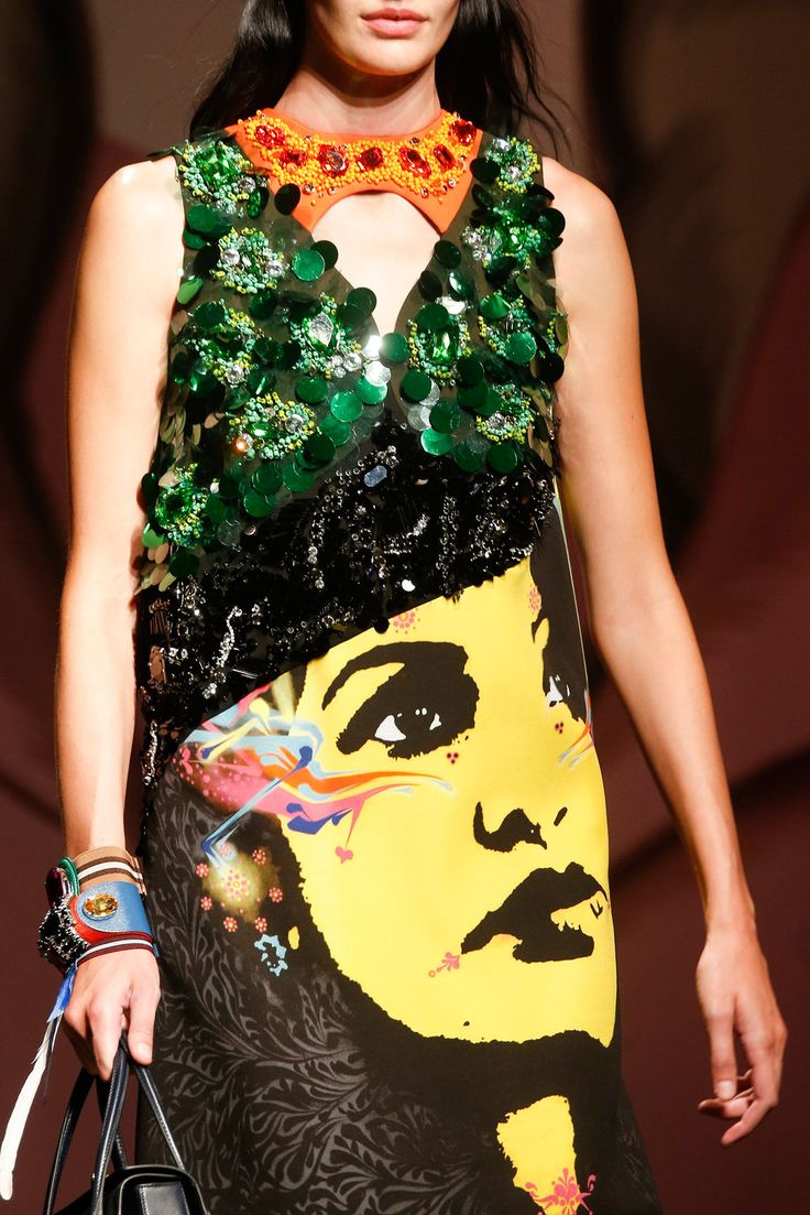 Wear face collection - Prada Spring 2014 Print Face Embellished
