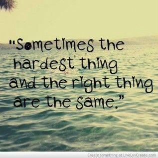 The hardest thing