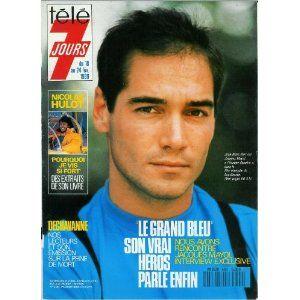 """Jean-Marc Barr est Jacques Mayol dans """"Le Grand bleu"""", le film triomphe de Luc Besson, dans Télé 7 jours (n°1499) du 18/02/1989 [couverture mise en vente par Presse-Mémoire]"""
