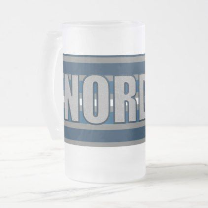 NordenDeutschland(North Germany) Krug Frosted Glass Beer Mug - decor gifts diy home & living cyo giftidea