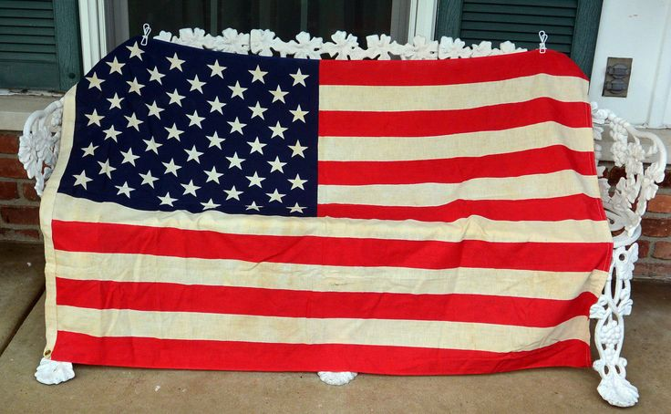 1970's US Flag - 50 Stars, Cotton, 35 x 54 Inches - American Flag,  Patriot Flag - Vintage - Fabulous! by YPSA on Etsy