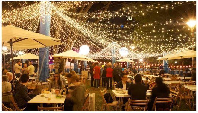 Night Noodle Markets  Hyde Park.  October.