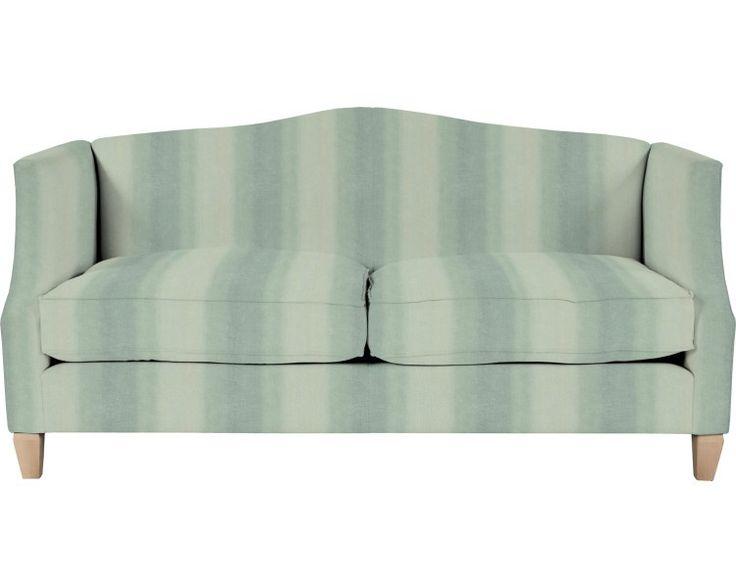 Полосатый английский диван в мягкой ткани RUTHERFORD 2ST BAND E MURANO DUCK EGG Полосатый английский диван в мягкой ткани
