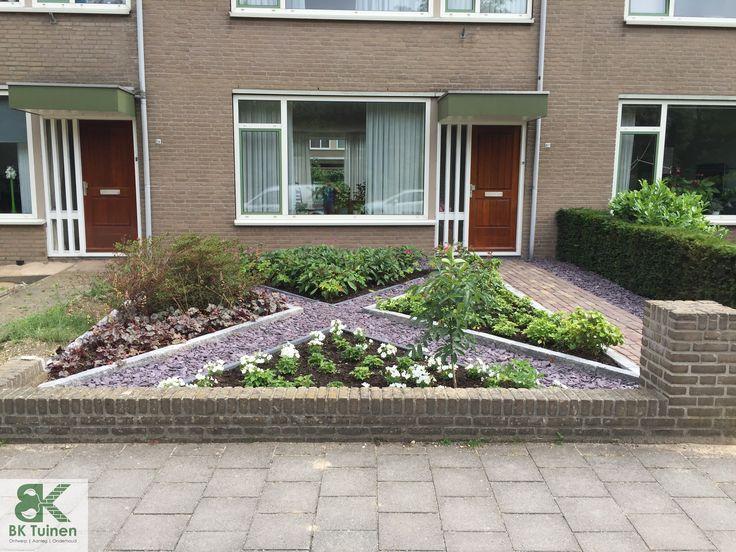 Voortuin met diagonale lijnen www.groenehanden.nl