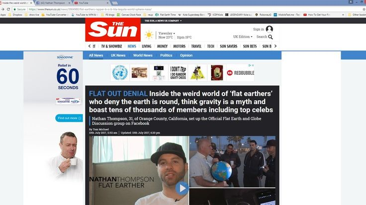 Sun Newspaper UNBIASED FLAT EARTH Article July 2017 narrated