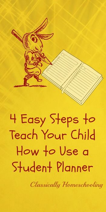 Teach your child how to use a student planner