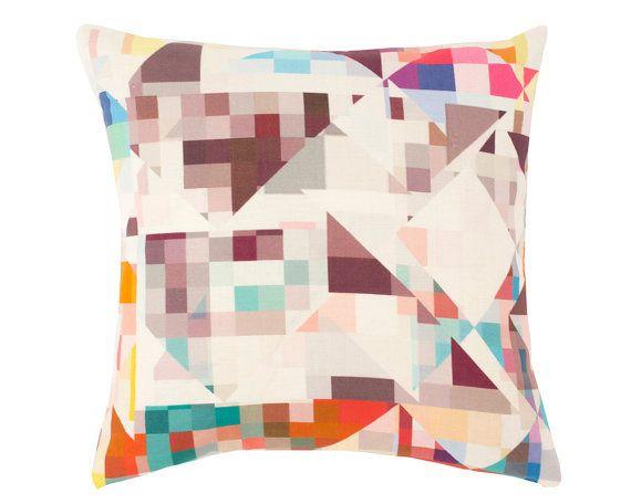 Contemporary Cushion Cover - Geometric Pillow - Northmore Major - Multi-Colour Geometric Pattern