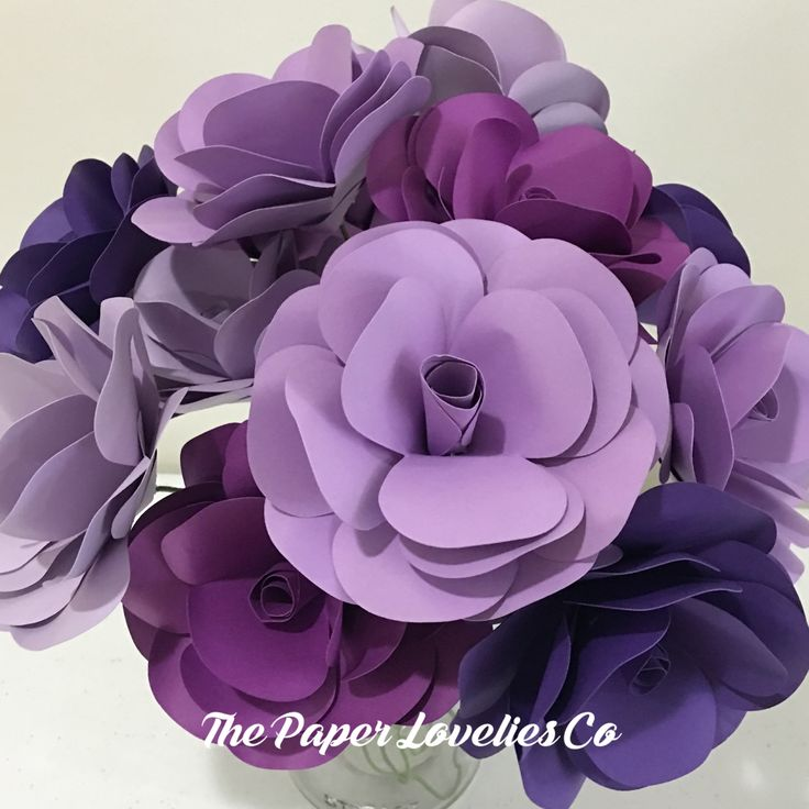 Purple Paper flower roses