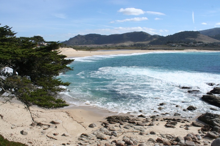 Carmel River State beach with it's turquoise water