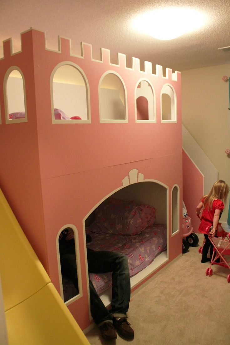 One father decided that his two little girls simply could not live without a pink castle of their own, so he created an awesome, DIY Castle Bunk Bed with his own two hands and the extraordinary power of his imagination! See the picture above for the finished product. There …