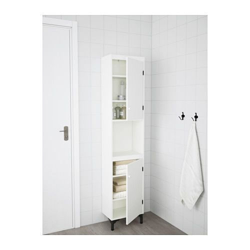 SILVERÅN High cabinet with 2 doors, white 15 3/4x9 7/8x72 1/4 -  several lined up as pantry cabinet