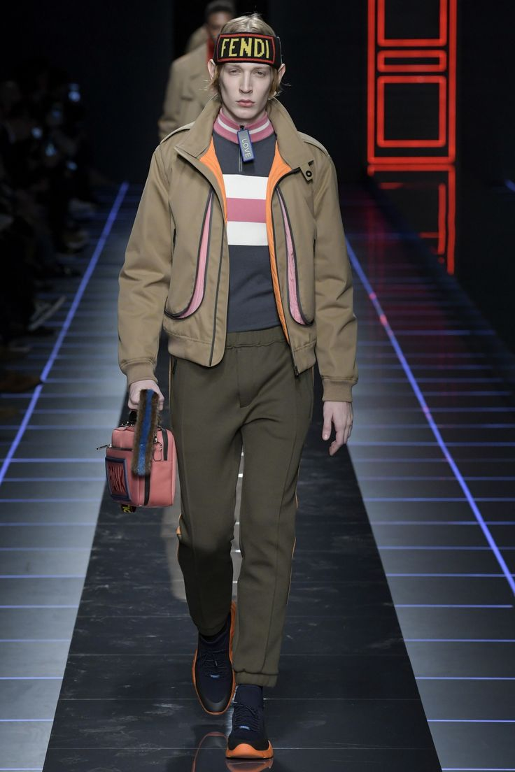 golden except that head thing eeeee  See the complete Fendi Fall 2017 Menswear collection.