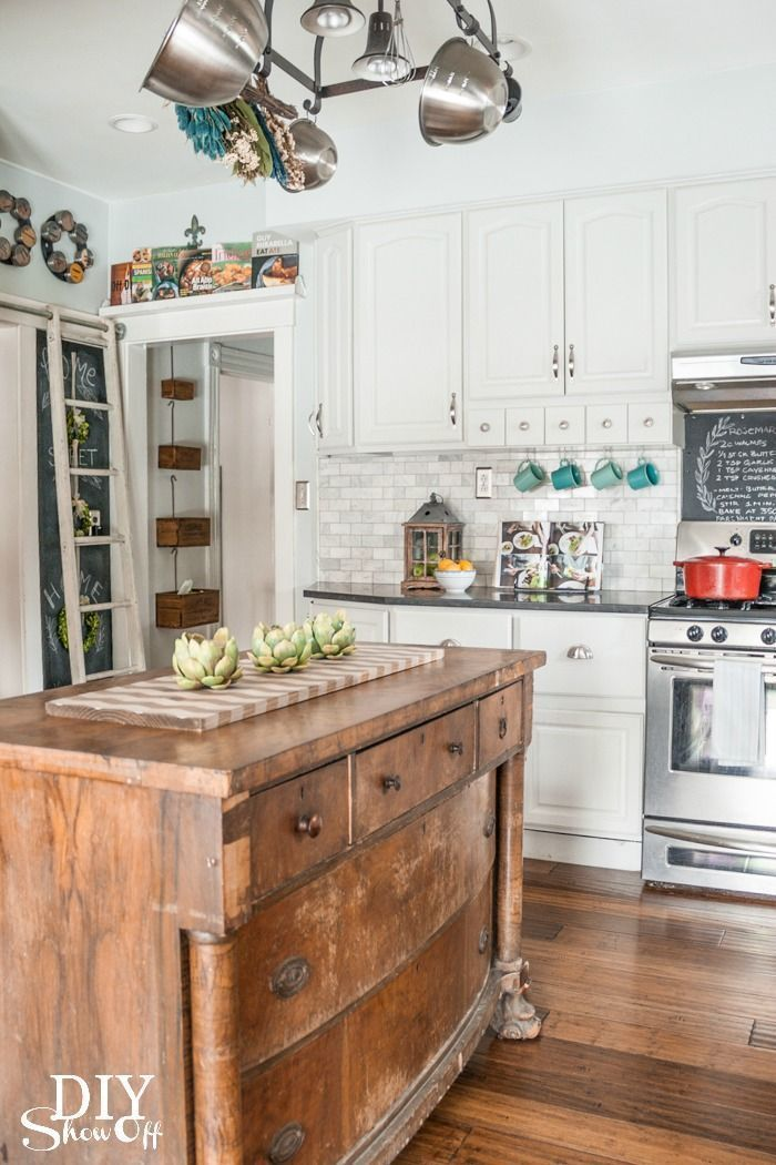 Diy Show Off Eclectic Kitchen Farmhouse Kitchen Diy Home Kitchens