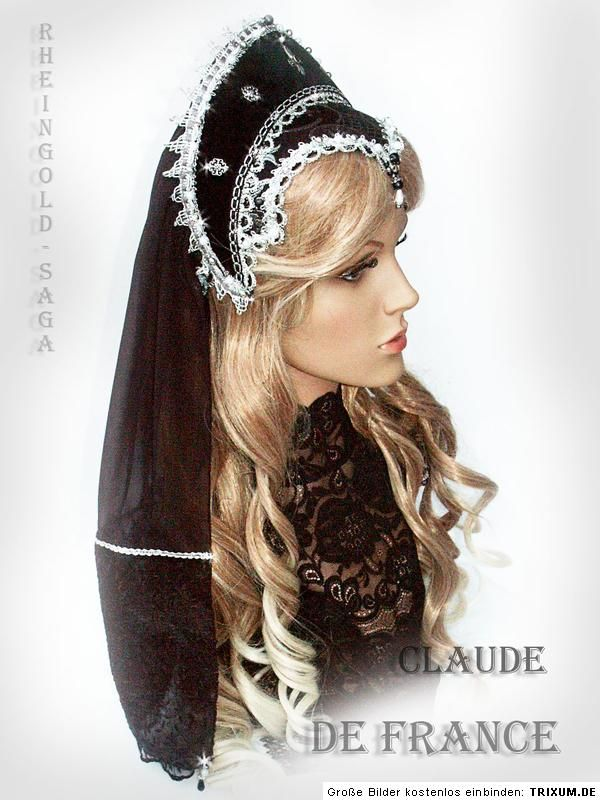 Tudor Silber Renaissance French Hood Claude de France