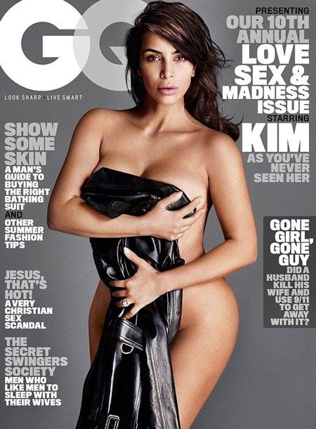 #Kim Kardashian strips n*ked for her first GQ Magazine cover (photos) #vibes247