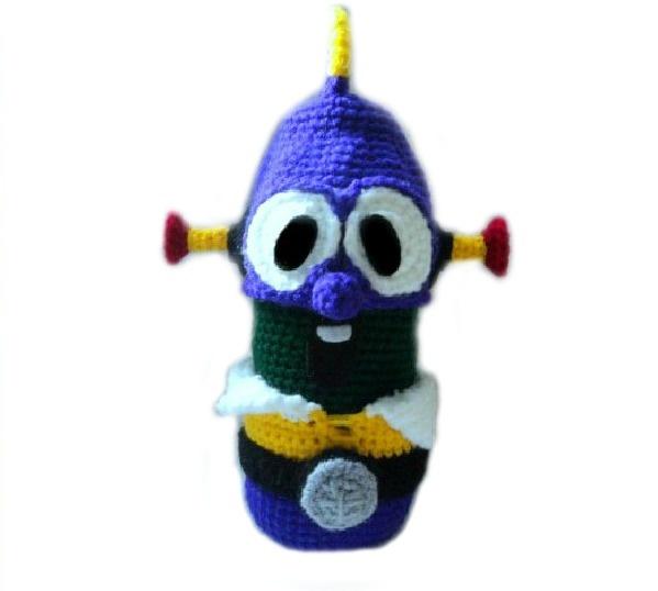 Free veggietales crochet pattern larryboy crocheted